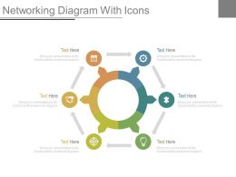 Six Staged Networking For Business Diagram Powerpoint Slides