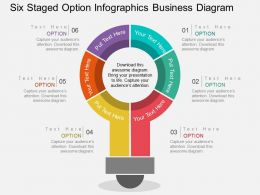 Six Staged Option Infographics Buiness Diagram Flat Powerpoint Desgin