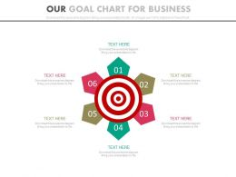 Six Staged Our Goal Chart For Business Powerpoint Slides