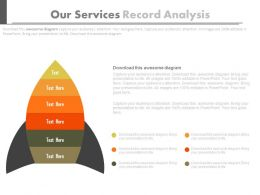 Six Staged Our Services Record Analysis Powerpoint Slides