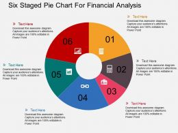 Six Staged Pie Chart For Financial Analysis Flat Powerpoint Design
