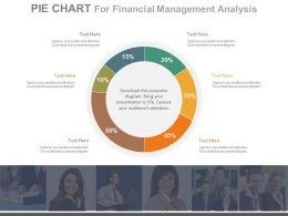 Six Staged Pie Chart For Financial Management Analysis Powerpoint Slides