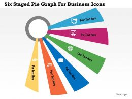 Six Staged Pie Graph For Business Icons Flat Powerpoint Design