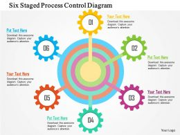 Six Staged Process Control Diagram Flat Powerpoint Design