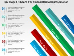 Six Staged Ribbons For Financial Data Representation Flat Powerpoint Design