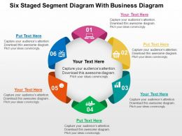 Six Staged Segment Diagram With Business Diagram Flat Powerpoint Design