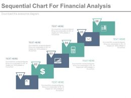 Six Staged Sequential Chart For Financial Analysis Powerpoint Slides