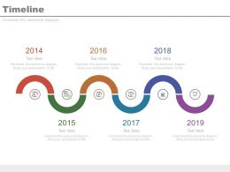 Six Staged Spiral Timeline For Financial Analysis Powerpoint Slides