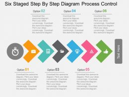 Six Staged Step By Step Diagram Process Control Flat Powerpoint Design