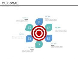 Six Staged Target Goal Analysis Powerpoint Slides