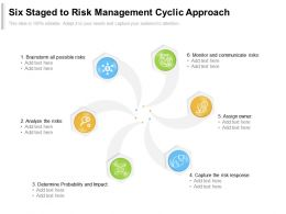 Six Staged To Risk Management Cyclic Approach