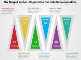 Six Staged Vector Infographics For Data Representation Flat Powerpoint Design