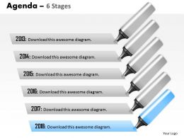 Six Staged Vertical Agenda Process Text Boxes 0214