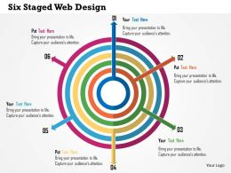 Six Staged Web Design Flat Powerpoint Design