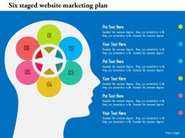 Six Staged Website Marketing Plan Flat Powerpoint Design