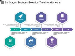 Six Stages Business Evolution Timeline With Icons