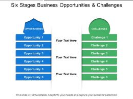 Six Stages Business Opportunities And Challenges