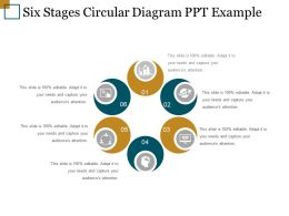 Six Stages Circular Diagram Ppt Example