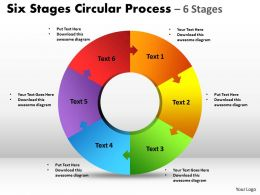 Six Stages Circular diagram Process 20