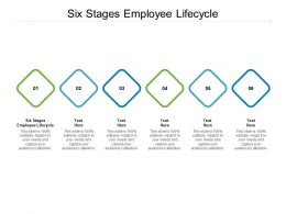 Six Stages Employee Lifecycle Ppt Powerpoint Presentation Infographic Template Aids Cpb