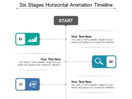 Six Stages Horizontal Animation Timeline