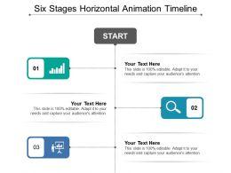 Six Stages Horizontal Animation Timeline