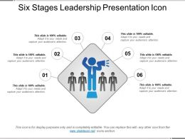 Six Stages Leadership Presentation Icon