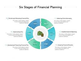 Six Stages Of Financial Planning