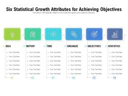 Six Statistical Growth Attributes For Achieving Objectives