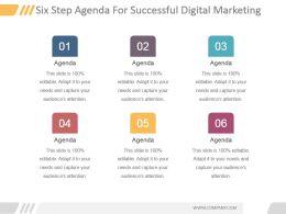 six_step_agenda_for_successful_digital_marketing_powerpoint_topics_Slide01