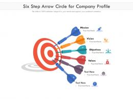 Six Step Arrow Circle For Company Profile