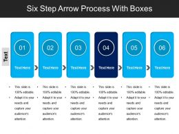 Six Step Arrow Process With Boxes
