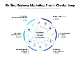 Six Step Business Marketing Plan In Circular Loop