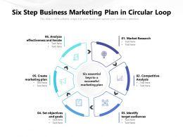 Six Step Business Marketing Plan In Circular Loop