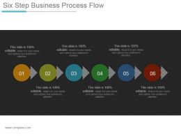 Six Step Business Process Flow Ppt Design Templates