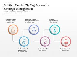 Six Step Circular Zig Zag Process For Strategic Management