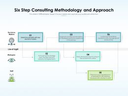 Six Step Consulting Methodology And Approach