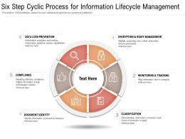 Six Step Cyclic Process For Information Lifecycle Management