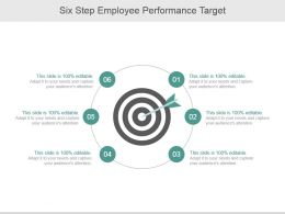 Six Step Employee Performance Target