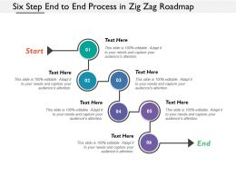 Six Step End To End Process In Zig Zag Roadmap
