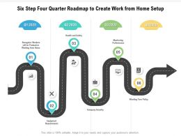 Six Step Four Quarter Roadmap To Create Work From Home Setup