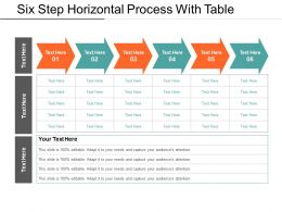 Six Step Horizontal Process With Table