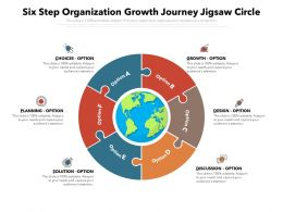 Six Step Organization Growth Journey Jigsaw Circle