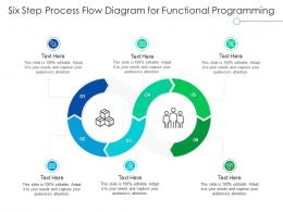 Six Step Process Flow Diagram For Functional Programming Infographic Template