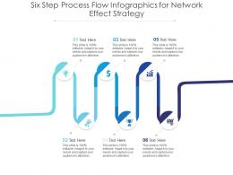 Six Step Process Flow For Network Effect Strategy Infographic Template
