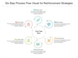 Six Step Process Flow Visual For Reinforcement Strategies Infographic Template