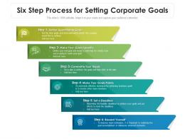 Six Step Process For Setting Corporate Goals