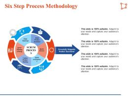 Six Step Process Methodology Build Product Increment Ppt Infographic Template Visual Aids