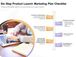 Six Step Product Launch Marketing Plan Checklist