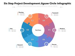 Six Step Project Development Jigsaw Circle Infographic